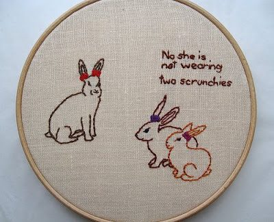 {hilarious embroidered hoops}