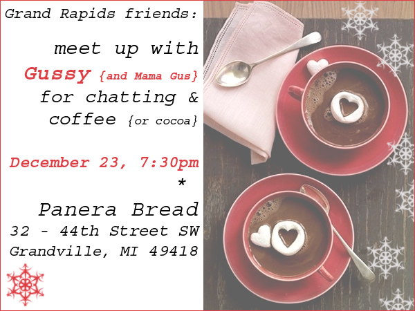 {Dec. 23 — let's get together in Grand Rapids!}