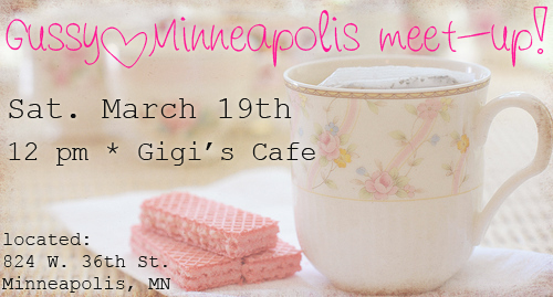 {Gussy//Minneapolis meet-up, March 19th}