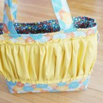 {a colorful shop update: our SIGNATURE gussy tote + diaper/wipe wristlets}