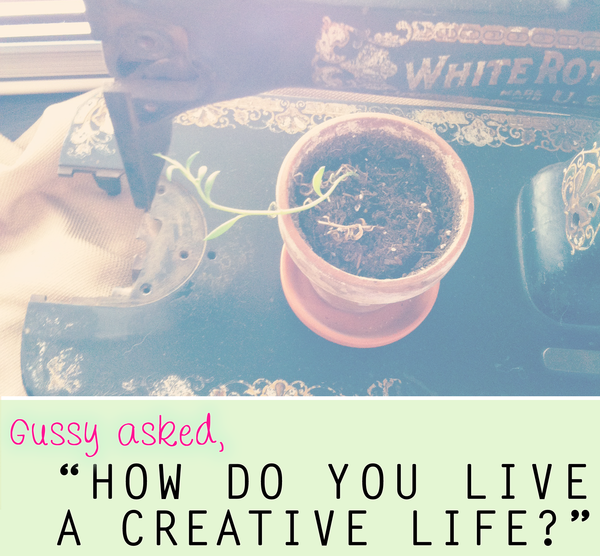 "{a NEW mini-series: ""How I live a creative life,"" featuring Just Lovely Things}"