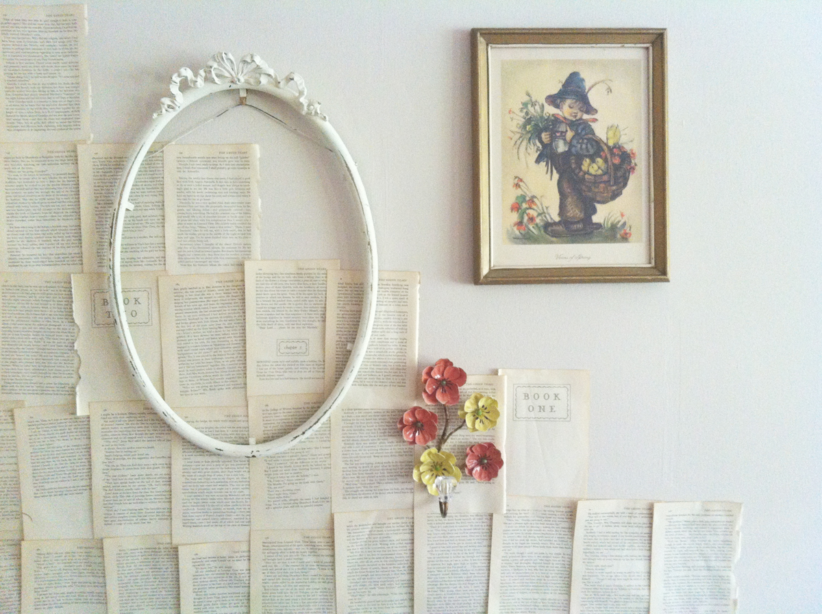 {creating a book page wall // DIY}