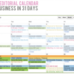 {Handmade Business in 31 Days — Day 21, Create an editorial calendar.}