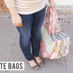 {weekly Gussy shop update — have you seen our *NEW* line of tote/diaper bags?}