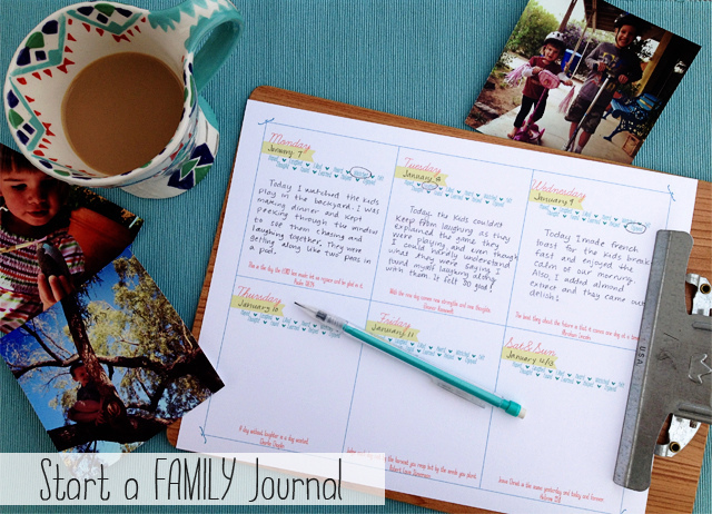 {On starting a family journal.}