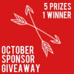 October sponsor giveaway: over $430 in prizes