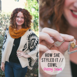 How She Styled It: our crocheted infinity cowl