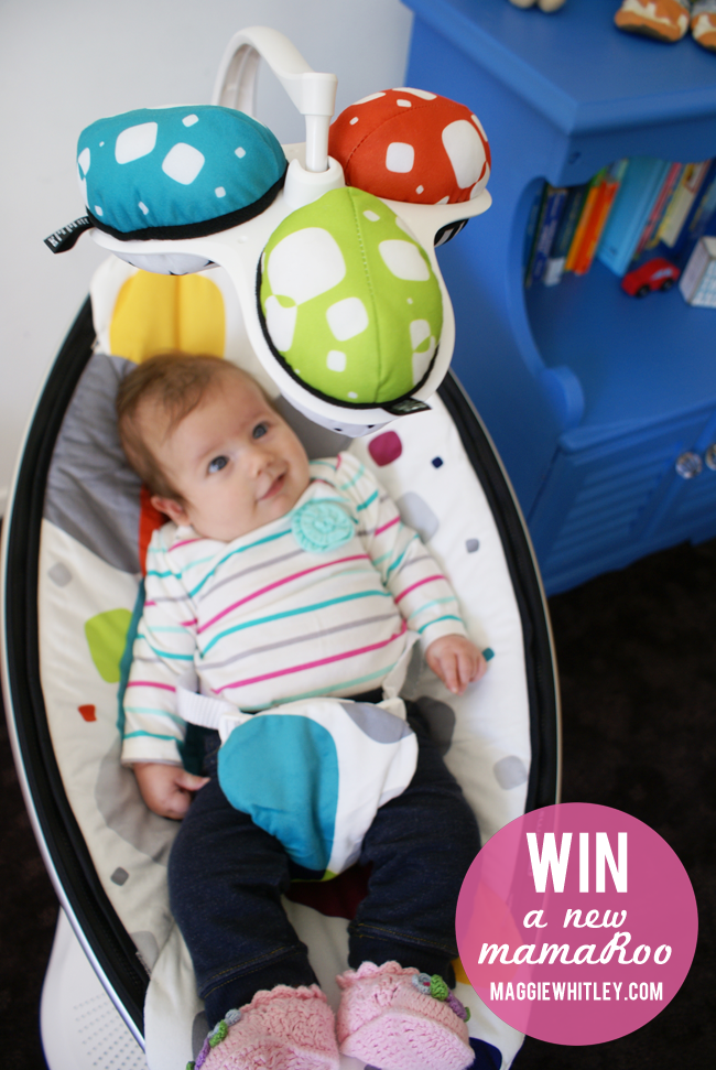 win a mamaRoo from 4moms & maggie whitley designs