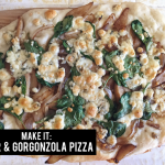 MAKE IT: pear & gorgonzola pizza!