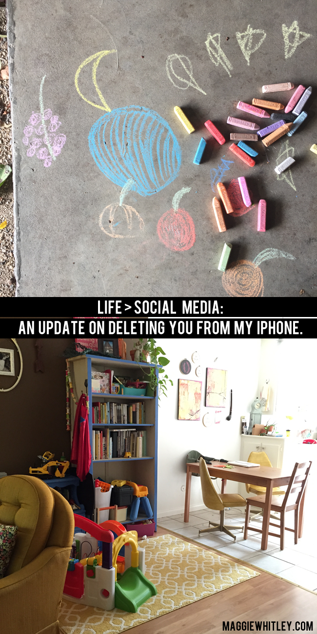 life > social media: an update on deleting you from my iphone | maggie whitley designs