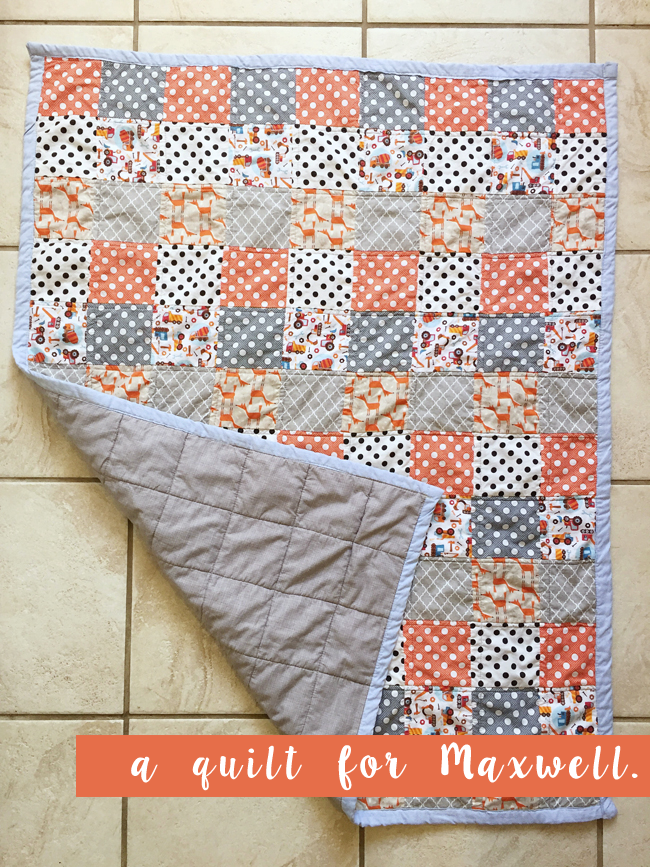 a quilt for Maxwell | maggie whitley designs